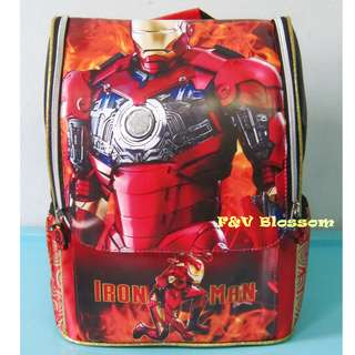 Tas Sekolah Anak Ransel Backpack TK Jepang Full Print IRON MAN