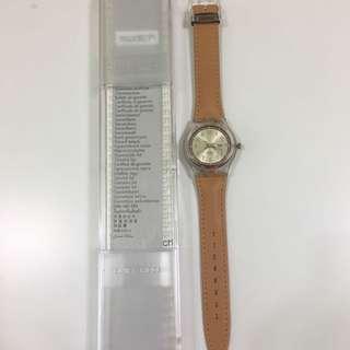 Swatch 淺啡色錶帶手錶