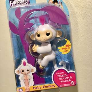 BNIP Authentic Fingerlings Sophie baby monkey