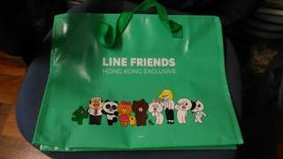 Line friends 香港限定版 環保袋