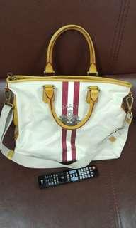 (原價約6千元)95% New 正貨Bally 旅行袋 醫生袋 (有塵袋) Travel Bag Doctor Bag (Hermes, Chanel, LV, Prada) 開學 書包