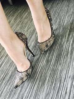 Zara sexy lace heels with studs