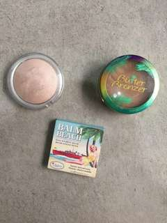 MUST TAKE ALL: physician's formula butter bronzer + the balm beach blush + catrice glow highlighter