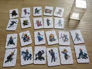 Nintendo Zelda Botw Amiibo Mini Cards Set of 22