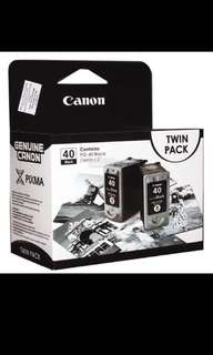 Canon PG-40 Black Twin Pack Ink Cartridge