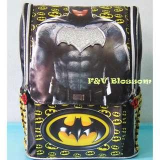 Tas Sekolah Anak Ransel Backpack TK Jepang Full Print BATMAN