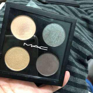 Mac swatched eyeshadow palette burmese beauty