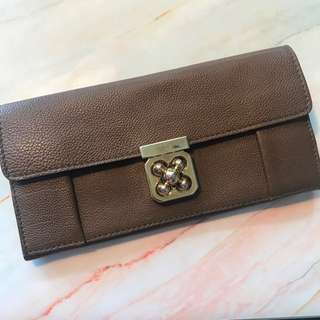 Chloe tan leather wallet
