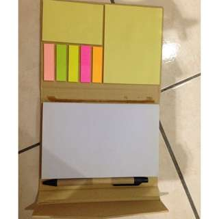 Notebook with sticky notes  #KayaRaya