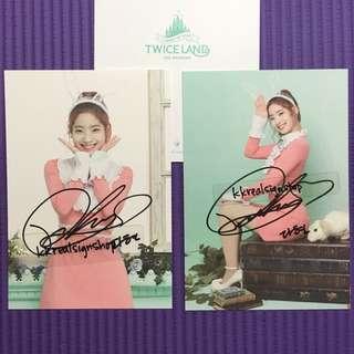 Twice 官方親簽photo card