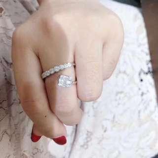 香港預展 18k鑽石戒指