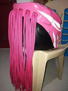 Pink predator helmet