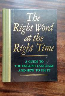 ♦THE RIGHT WORD AT THE RIGHT TIME - Reader`s Digest ♦