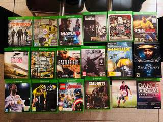 Assorted Xbox One and PC games