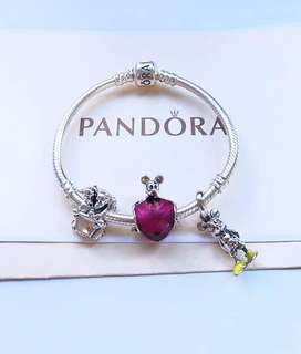 MICKEY MOUSE PANDORA BRACELET SET