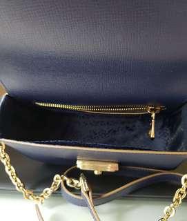 Longchamp真皮斜揹袋XS size Blue Colour