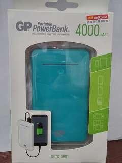 Ultra Slim GP Portable PowerBank (4000 mAh)