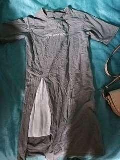 Y LI FANG cotton maxi dress