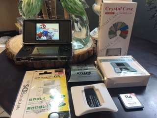 🚚 DS Lite + 69 Games + R4 + 2G + Case Protector + Charger + Screen Protector
