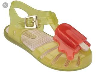 Mini Melissa Yellow Popsicle Size 5