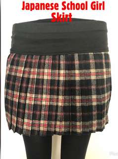 < ZHOELUX > Checkered Pleated Skirt Japanese School Girl