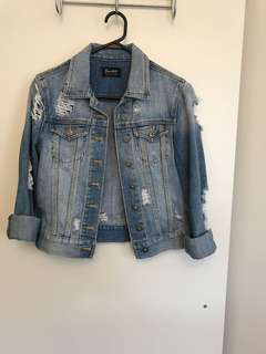Bardot Ripped Denim Jacket