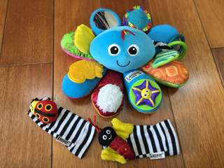 lamaze octopus toy with freebies