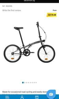 Foldable BTWIN Decathlon Bicycle (free seat cushion and bike lock)