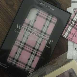 Wildflower cases iPhone X pink plaid case