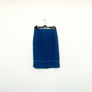 🚚 二手 藍色 高腰 短裙 明太子 618