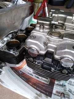 Honda CB400sf** Vtec head cylinder with solenoid/piston block whole set(pls read description below)