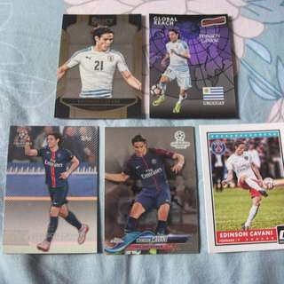 Edinson Cavani Topps/Panini trading cards for sale/trade (Lot of 5 cards)