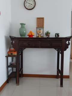 Old rosewood altar table