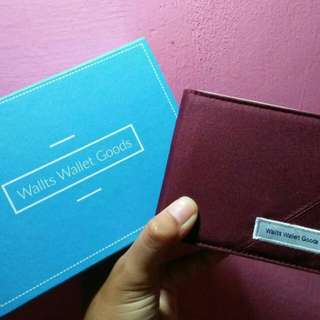 Dompet Wallts - Maroon Cream