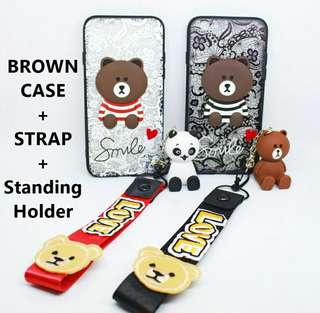 Bear case strap + doll FREE ONGKIR