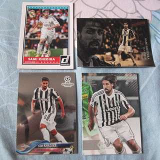 Sami Khedira Topps/Panini trading cards for sale/trade (Lot of 4 cards)