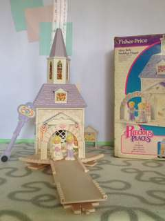 Vintage Fisher's Price Precious Places- Silver Bell Wedding Chapel