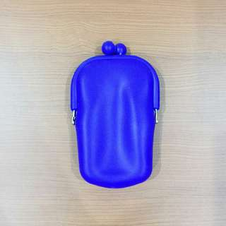 Electric Blue Silicone Pouch