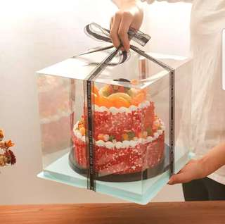 Transparent cake box (with lid)