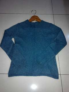 Blue soft sweater