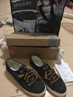 SPERRY Seacoast Core Shoes (BLACK, Size 6)