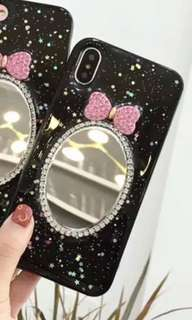 iphone x 黑色鏡子手機殻