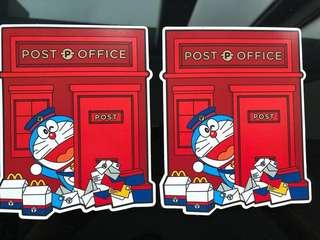 多啦A夢 明信片 Doraemon postcard (共2張)