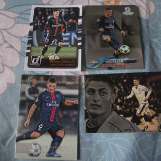 Marco Verratti Topps/Panini trading cards for sale/trade  (Lot of 4 cards)