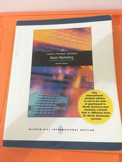 Basic Marketing 16th edition - cannon, perreault, mccarthy