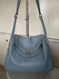 HERMES lindy 30 clemence leather