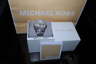 Authentic Michael Kors MK6183 kacie silver dial stainless steel ladies watch