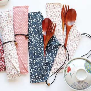 INSTOCK AND PO Cloth Reusable Cutlery or Straw Pouch/Holder or Pencil Case Pencil Pouch