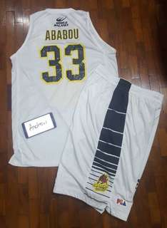 Ababou 33 Barako Bull Game Issued Jersey