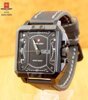 New...!!! 👏👏👏 #6325 #Swiss Army Watch Kualitas Semi Premium  Diameter:4,3cm  Warna: ~Black White  ~Brown.